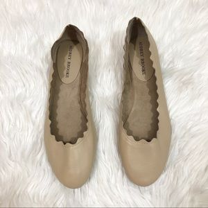 Audrey Brooke Shoes - Audrey Brooke Womens Leather Tan Flats Size 10